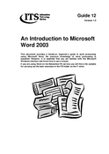 An introduction to Word 2003