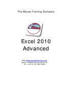 Excel 2010 Advanced
