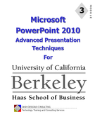 Microsoft PowerPoint 2010 advanced