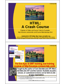 HTML a Crash Course