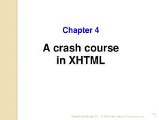 A crash course in XHTML