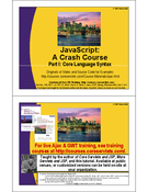 JavaScript: A Crash Course