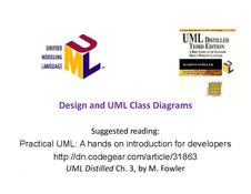 Design and UML Class Diagrams