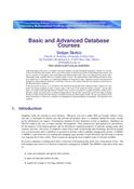 Basic and Advanced Database