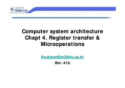 Register transfer & Microoperations