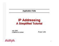 IP Addressing tutorial