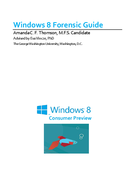 Windows 8 Forensic Guide