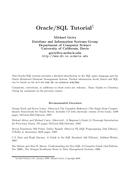 Oracle/SQL Tutorial