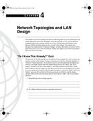 Network Topologies and LAN Design