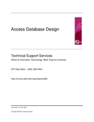 Access Database Design