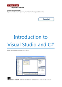Introduction to Visual Studio and C#