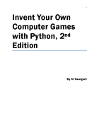 Your Own Computer Games with Python