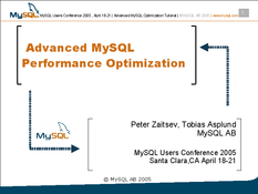 Advanced MySQL Performance Optimization