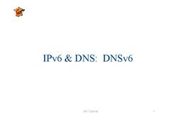 IPv6 & DNS: DNSv6