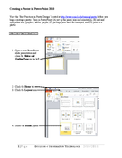 Creating a Poster in PowerPoint 2010