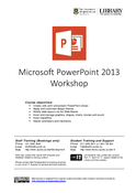 Microsoft PowerPoint 2013 Workshop