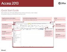 Quick Start Guide Access 2013