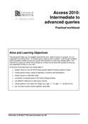 Access 2013: Intermediate to advanced queries