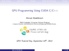 GPU Programming Using CUDA C/C++