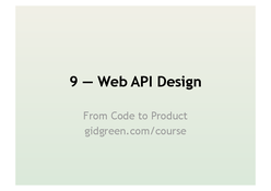 Web API Design