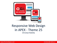 Responsive Web Design in APEX