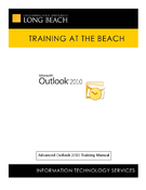 Advanced Outlook 2010 Training Manual