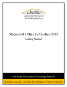 Microsoft Office Publisher 2013