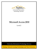 Microsoft Access 2010 Level 2