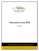 Microsoft Access 2010 Level 3
