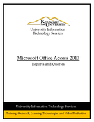 Access 2013: Reports and Queries