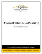 Powerpoint 2013: Accessibility Features