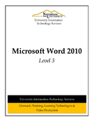 Microsoft Word 2010 Level 3
