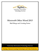 Word 2013: Mail Merge and Creating Forms
