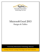 Excel 2013: Ranges & Tables