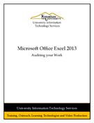 Excel 2013: Auditing your Work