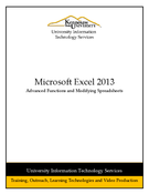 Excel 2013: Advanced Functions and Modifying Spreadsheets