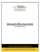 Excel 2013: Accessibility