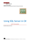 Using	SQL	Server	in	C# with	Examples