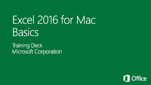 Excel 2016 for Mac Basics