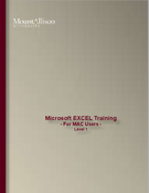 EXCEL Training - For MAC Users - level 1