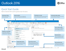 Outlook 2016 - Quick Start Guide