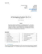 A Packaging System for C++