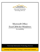 Excel 2016 - Accessibility