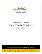 Excel 2016 - Ranges & Tables