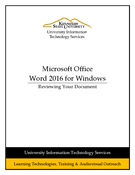Word 2016 - Reviewing your Document