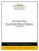 PowerPoint 2016 - Accessibility