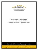 Creating an Adobe Captivate 9 Project
