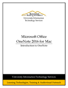 Introduction to OneNote 2016 for Mac