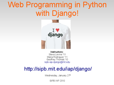 Web Programming in Python with Django