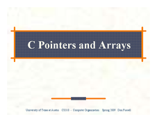 C Pointers and Arrays